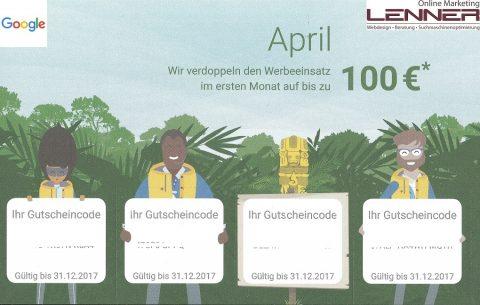 Google Adwords Gutschein bis 100 Euro