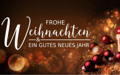 Frohe Weihnachten und einen guten Start ins neue Jahrzehnt