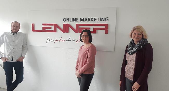 Teil der Redaktion der Agentur Lenner Online Marketing im Ruhrgebiet