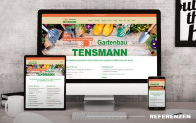 Gartenbau und Gärtnerei Tensmann – Relaunch der Webseite
